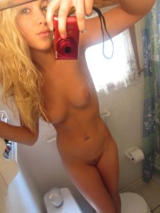 selfie, fucking, blonde Blonde Teen Selfie in the Bathroom