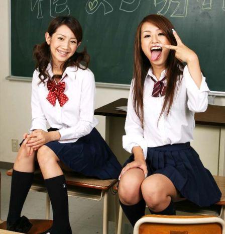 tube8, masturbating, asian Asian teen girls masturbating together in uniform