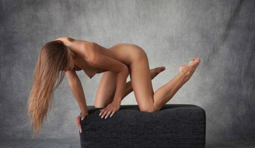 Model Dominika Metart Beauty Pose Busty Brunette Teen
