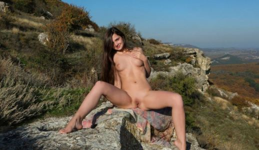 Pussy Brunette Teen Outdoors Beauty Nude Sexy Outdoors Gorgeous Shaved