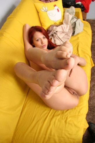 Russian Teen Stocking Feet
