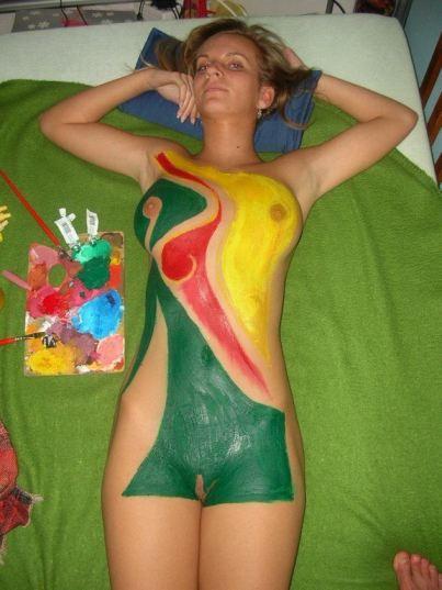 tube8 Skinny Teen Body Paint