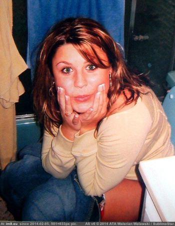 Young Teen Girl On Toilet