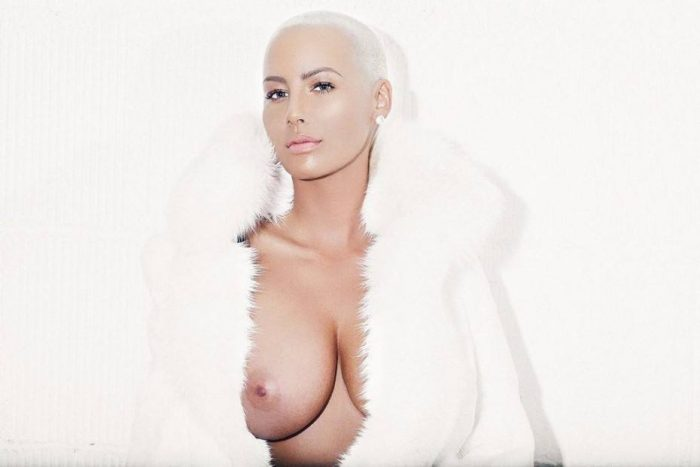 tube8 Amber Rose Nude Tits Sexy Topless