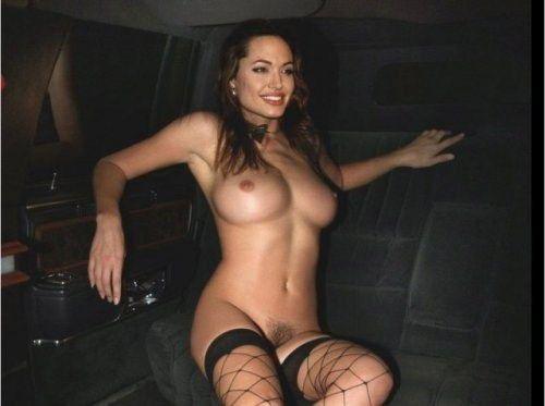 Angelina Jolie Big Boobs Naked Pussy Stosckings