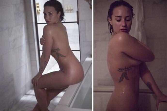 Demi Lovato Totally Nude