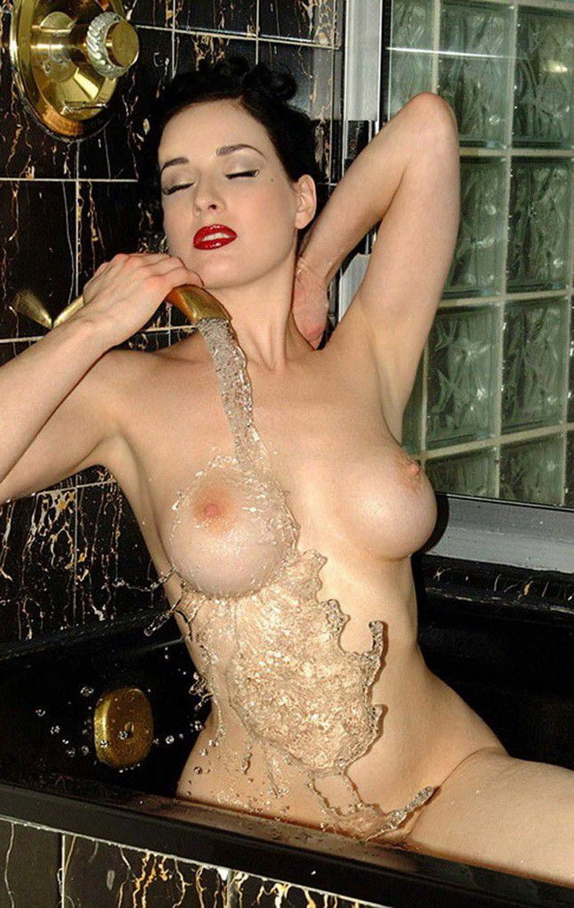tube8 Dita Von Teese Nude Braless Big Boobs