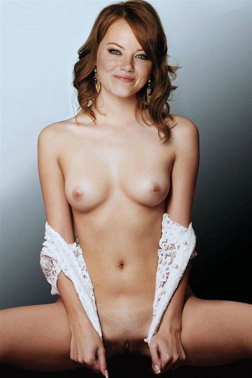 tube8 Emma Stone Covering Her Teen Topless Self In The Show