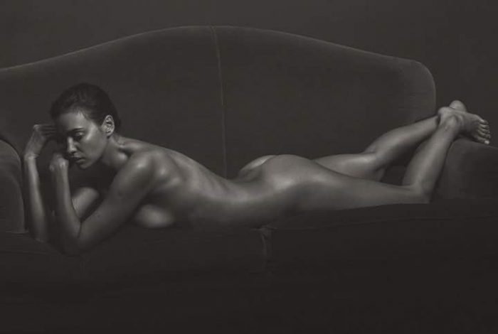 tube8 Irina Shayk Nude Completely Posing Black And White Photo