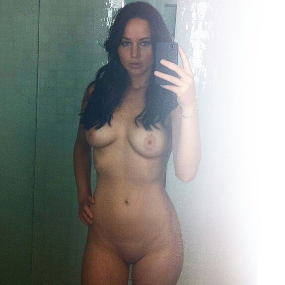 Jennifer Lawrence Nude Hot Mirror Image
