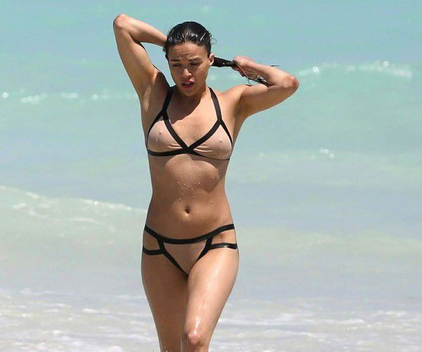 tube8 Michelle Rodriguez Nude See Through Bikini