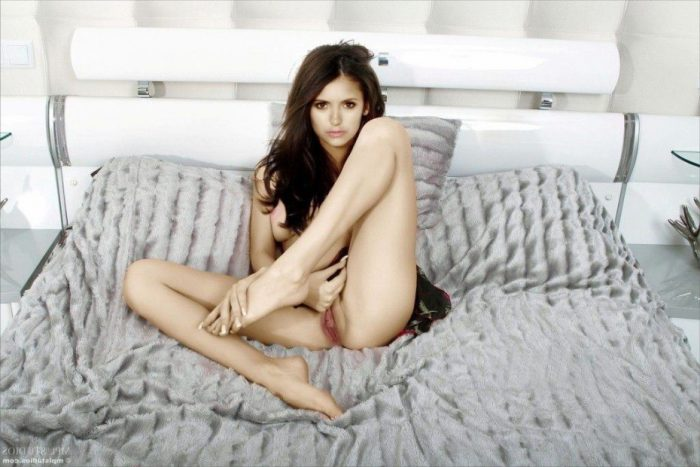 tube8, pussy Nina Dobrev Naked Shaved Pussy On Bed