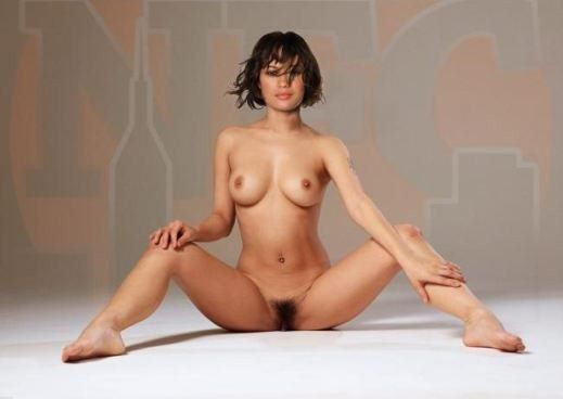 hairy, fucking, chubby, big-boobs Roly-Poly Teen Naked With Hairy Pussy