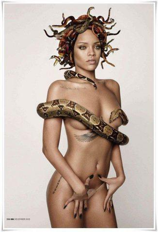tube8 Rihanna Nude Snake Photoshoot HD Photos