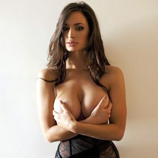 tube8 Rosie Roff holding her breasts