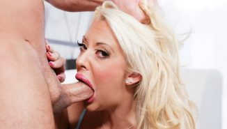 throated Courtney Taylor Sucking Big Cock
