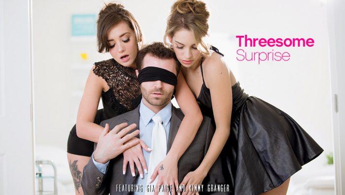 jizzbunker, eroticax Threesome Surprise