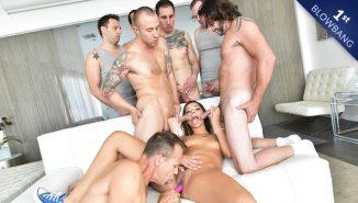 sexvid, hardx Her 1st Blowbang, Scene #01