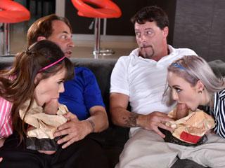 daughter-swap Movie Night Madness