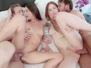 hardx, crocotube Devin and Alina in 'Milf Teen Cum Swap'